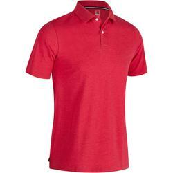 Golfpolo 500 met korte mouwen voor heren, zacht weer, gemêleerd rood
