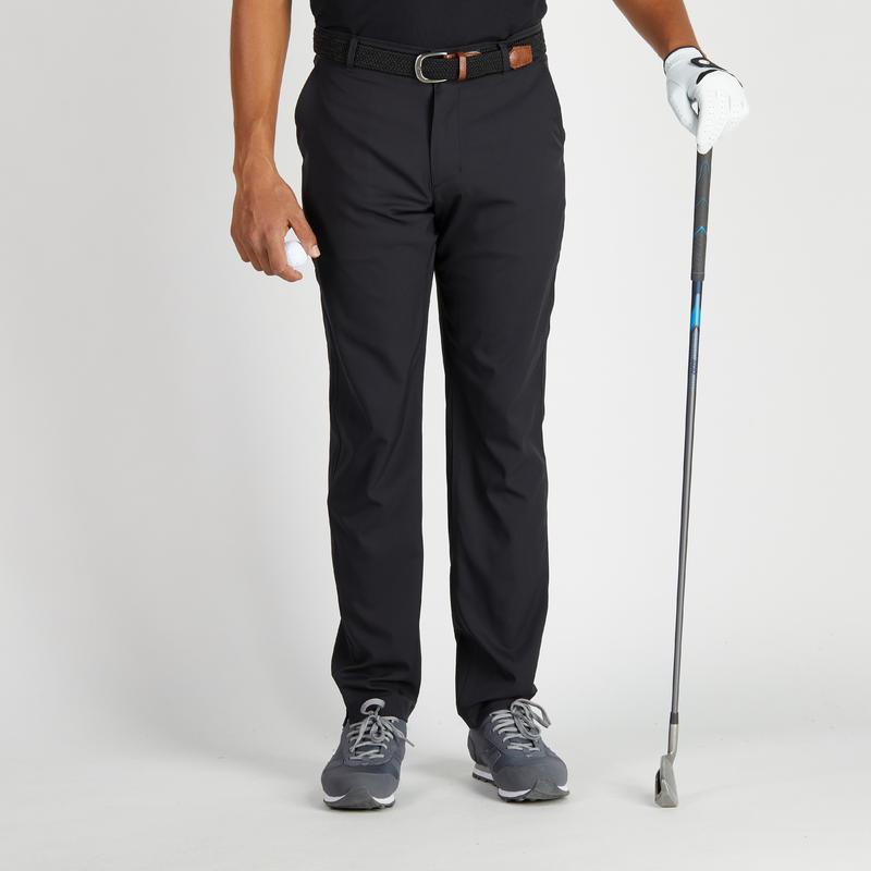 pantalon de golf homme 900 temps chaud noir decathlon guadeloupe. Black Bedroom Furniture Sets. Home Design Ideas