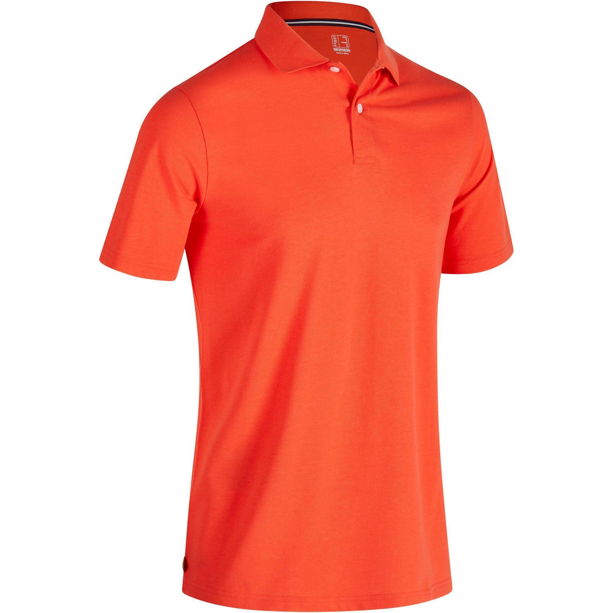 polo de golf homme manches courtes 500 temps chaud rouge inesis golf. Black Bedroom Furniture Sets. Home Design Ideas