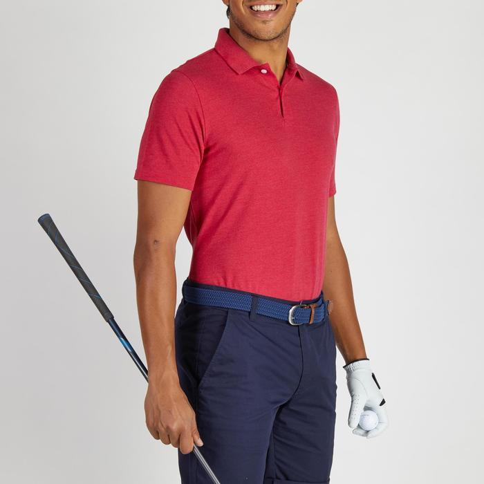 Golf Poloshirt 500 Kurzarm Herren rot meliert