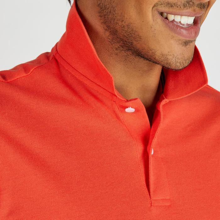 Golf Poloshirt 500 Kurzarm Herren mildwarm rot