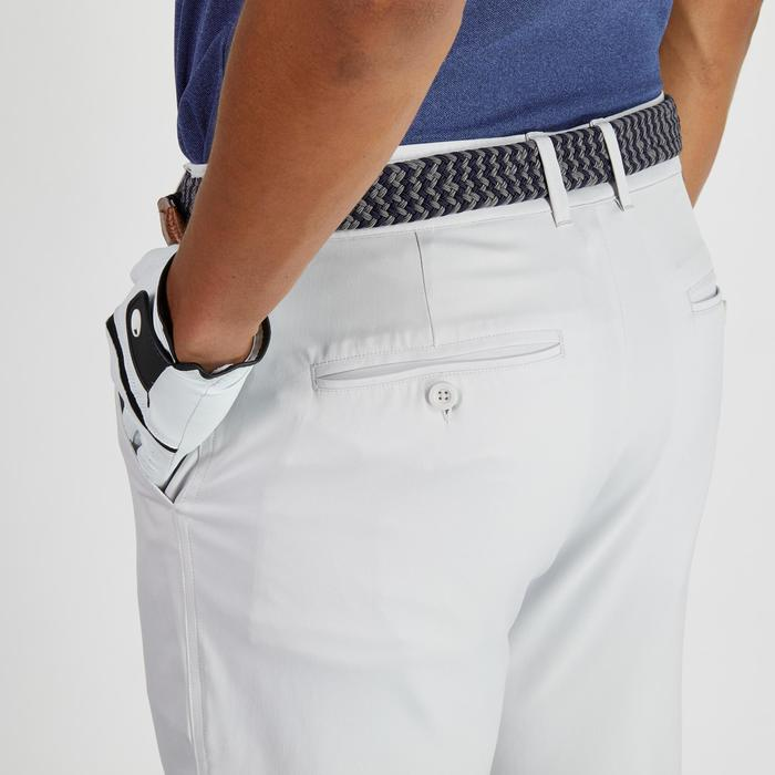 Golfbroek 900 voor heren, warm weer, lichtgrijs