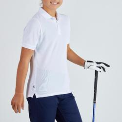 Polo golf enfant respirant blanc