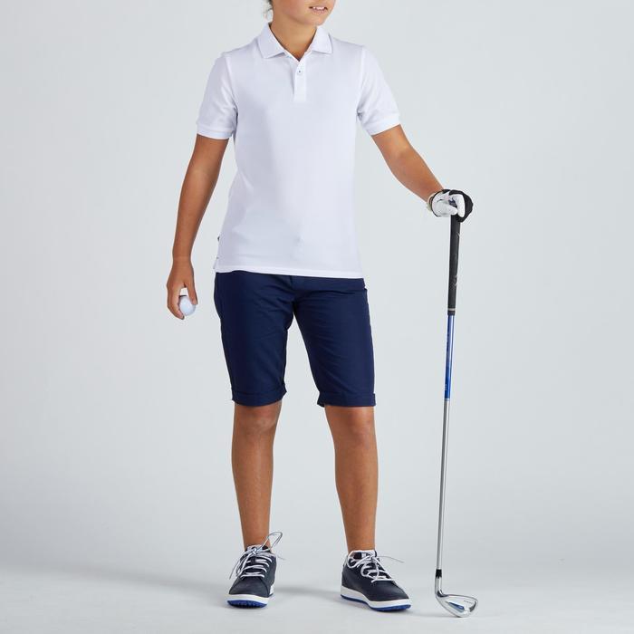 Polo golf enfant respirant blanc