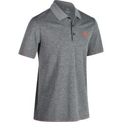 Golfpolo Adidas met korte mouwen voor heren, warm weer, gemêleerd grijs