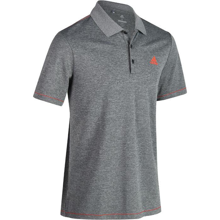 Polo de golf homme manches courtes Adidas temps chaud gris chiné