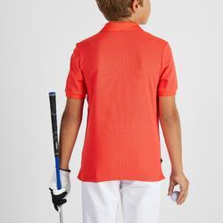 Polo golf enfant respirant rouge