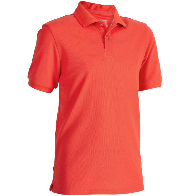 441da9a7b377e7 900 Kids Golf Short Sleeve Warm Weather Polo - Red