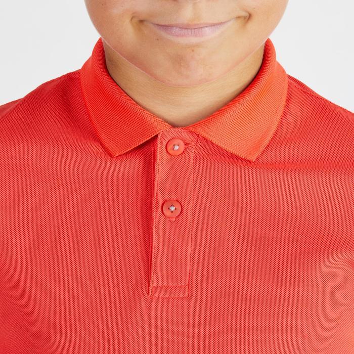 Golf Poloshirt Kinder atmungsaktiv rot