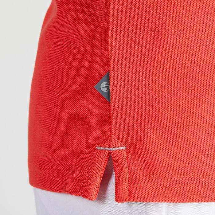 Polo de golf niños manga corta 900 tiempo caluroso rojo