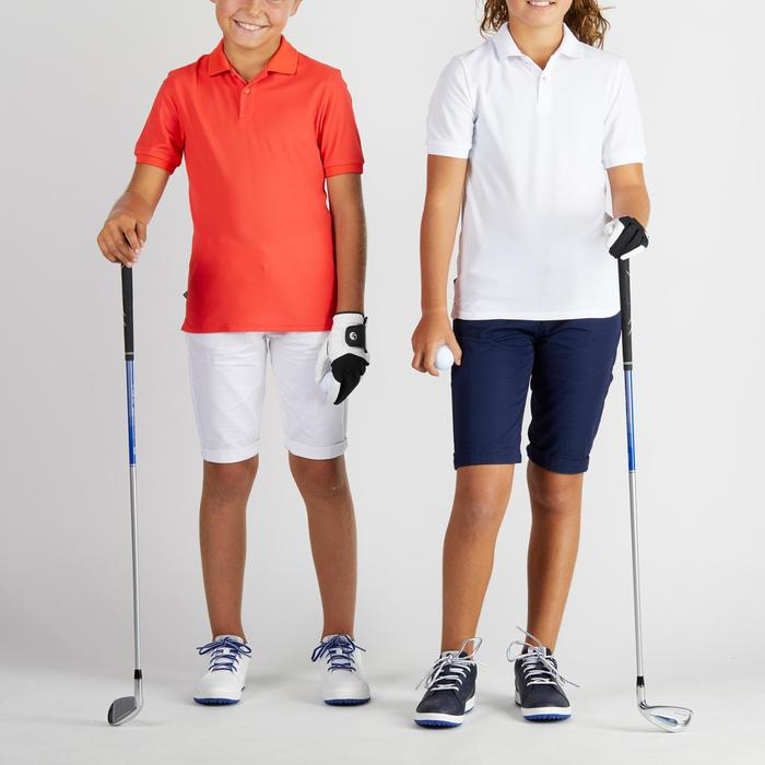Polo de golf respirant enfant rouge