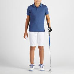 Polo golf niños transpirable azul