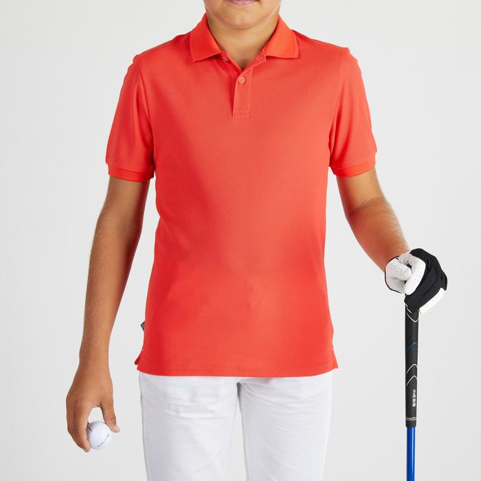 Polo golf para niños transpirable rojo