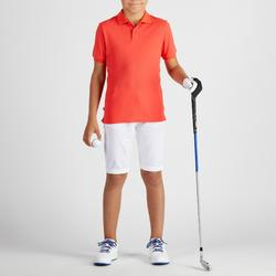 Polo golf enfant respirant rouge