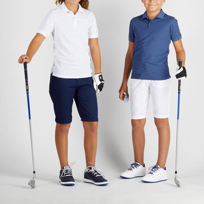 Golfpolo 900 met korte mouwen voor kinderen, warm weer, blauw