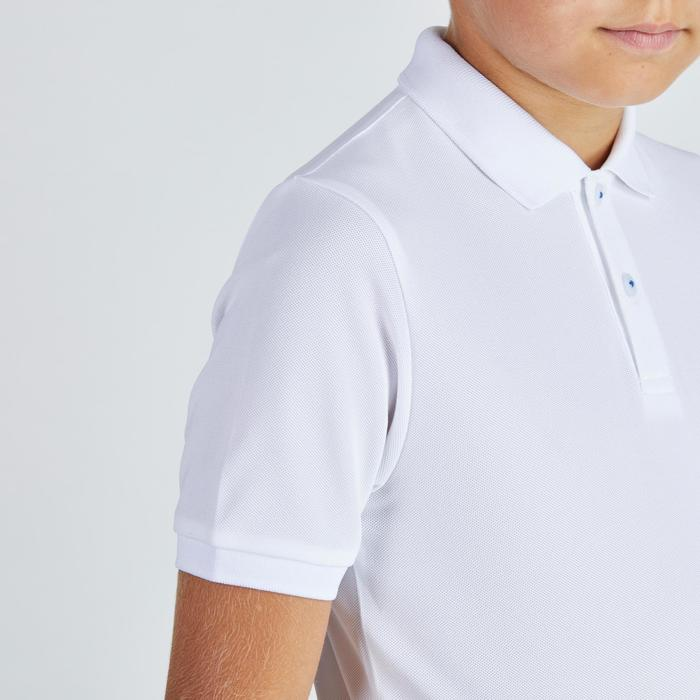 Polo de golf para niños transpirable blanco