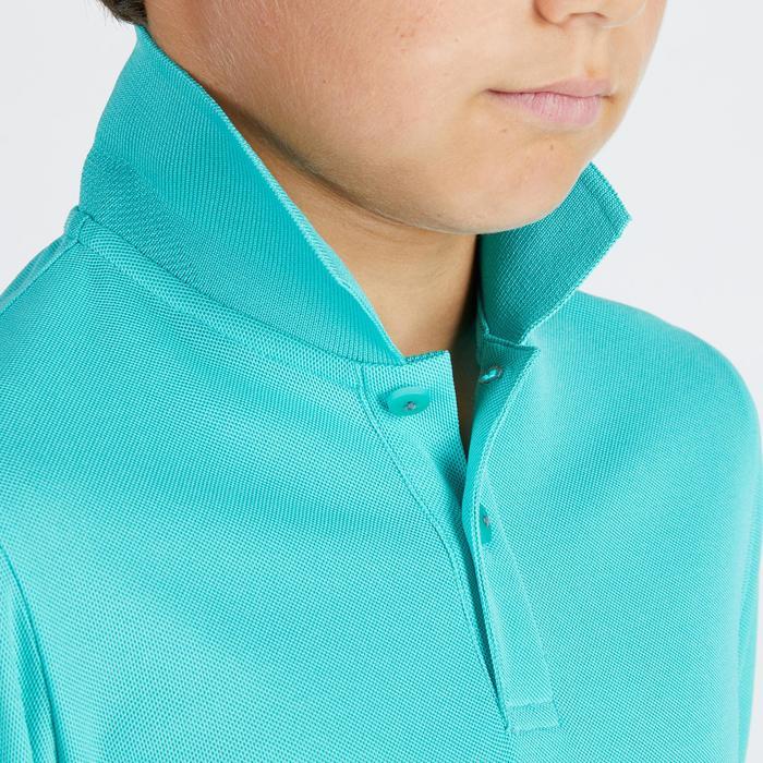 Polo de golf respirant enfant turquoise