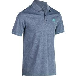 Polo de golf homme manches courtes Adidas temps chaud bleu chiné