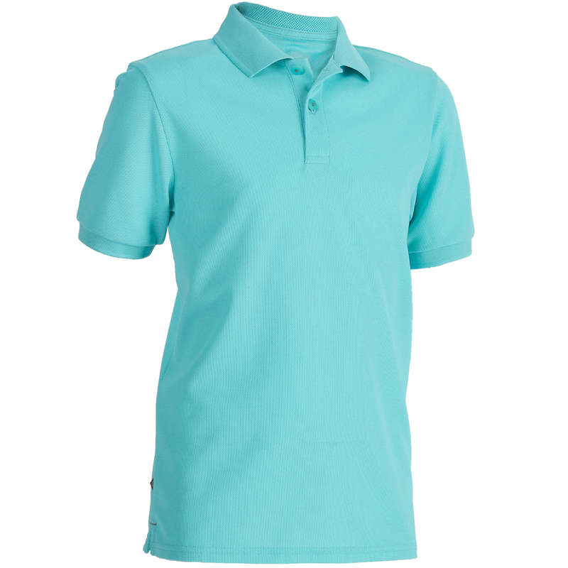 ABBIGLIAMENTO E SCARPE  GOLF JUNIOR Golf - Polo golf junior turchese INESIS - Abbigliamento e scarpe golf