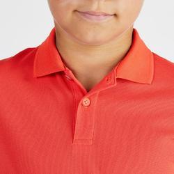 Golf Poloshirt Kurzarm Kinder korallenrot