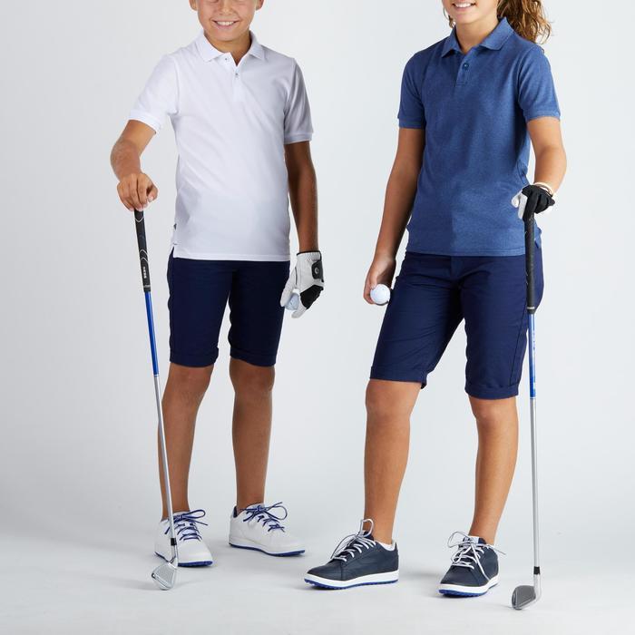 Golfpolo 900 met korte mouwen voor kinderen, warm weer, wit