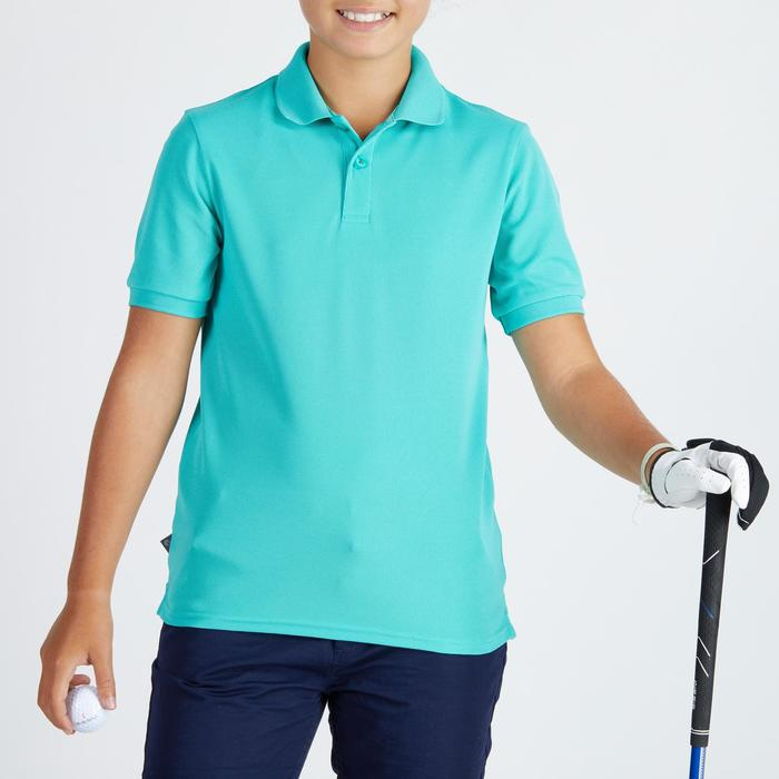 Polo golf para niños transpirable turquesa