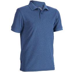 兒童款短袖高爾夫球POLO衫-刷色深藍色