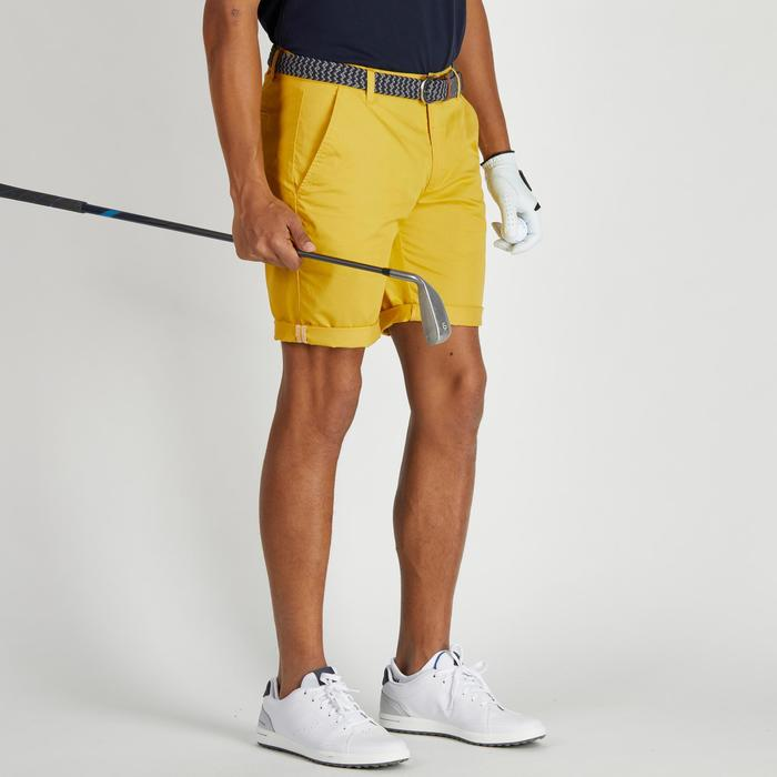 Bermudas de golf hombre 500 tiempo templado amarillo