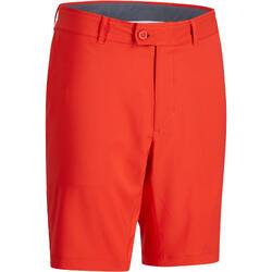 男款溫暖氣候高爾夫百慕達短褲-珊瑚紅