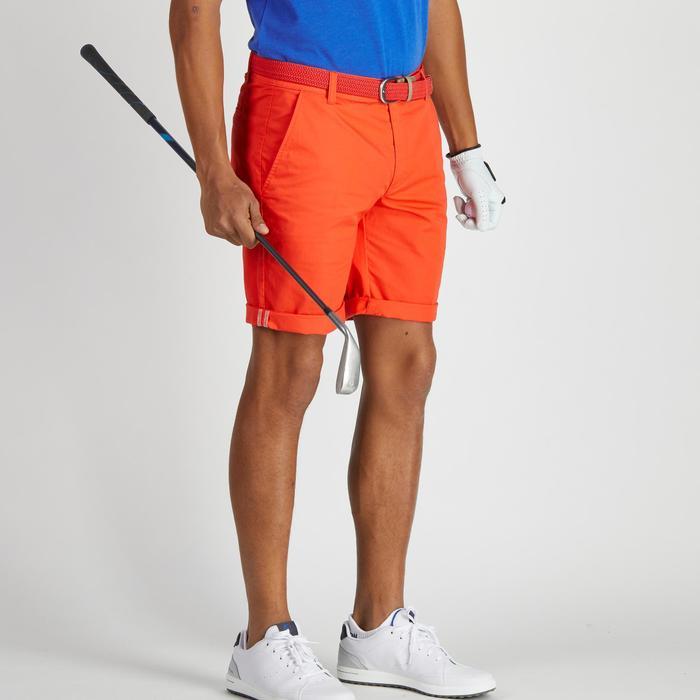Bermudas de golf hombre 500 tiempo templado rojo