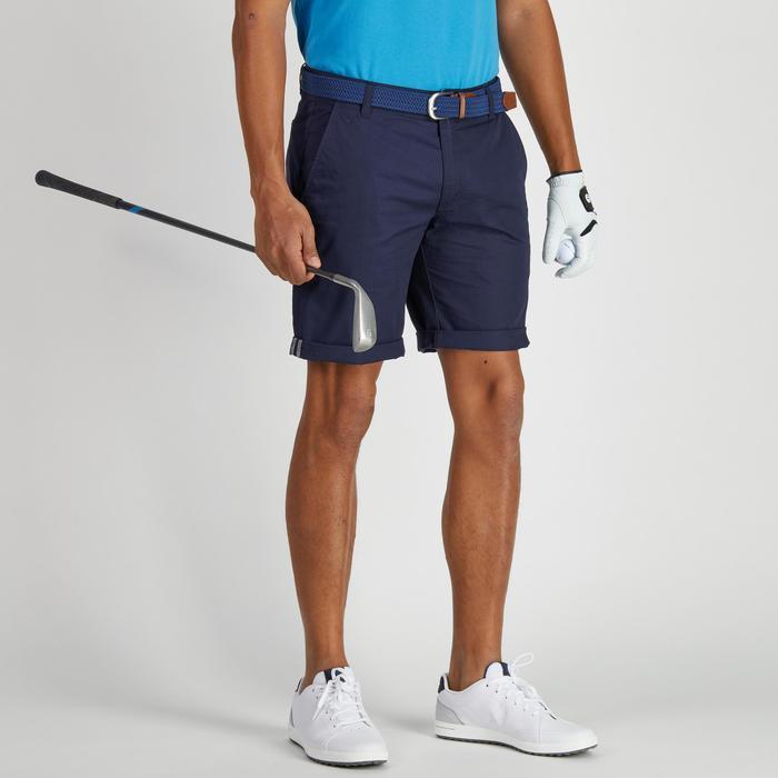 Bermudas de golf hombre 500 tiempo templado azul marino