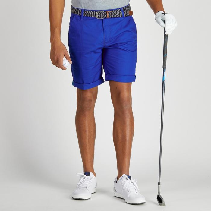 Bermuda de golf homme 500 temps tempéré marine - 1275482