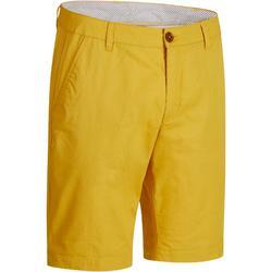 Golfbermuda 500 voor heren, warm weer, geel