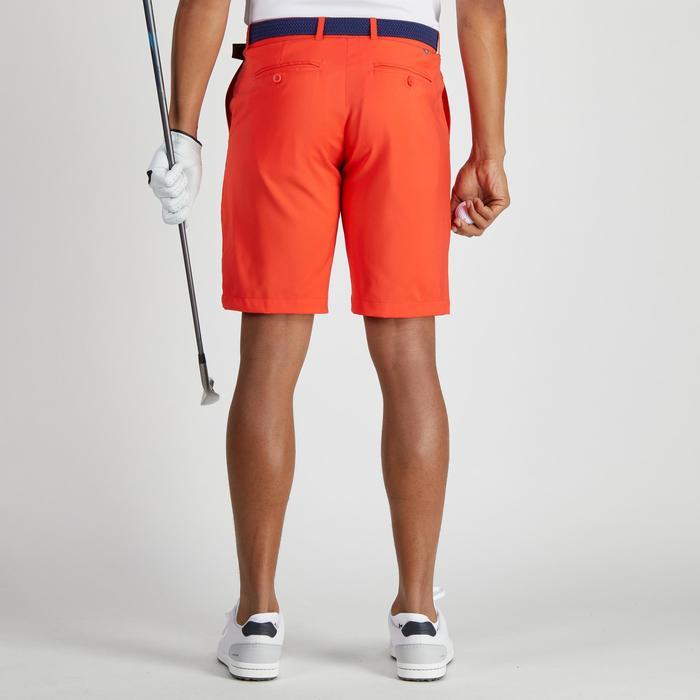 Bermuda de golf homme 900 temps chaud rouge