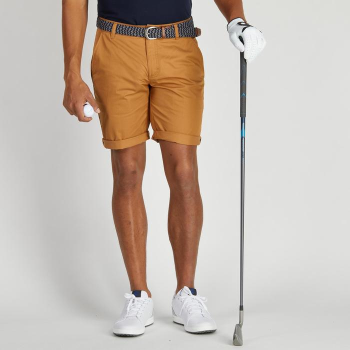 Bermuda de golf homme 500 temps tempéré marine - 1275499
