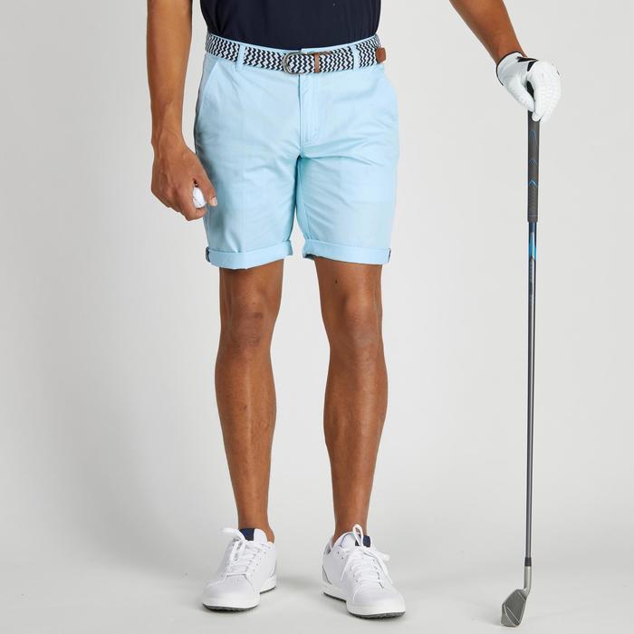 Bermuda de golf homme 500 temps tempéré marine - 1275505