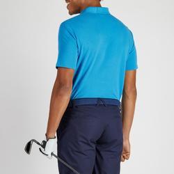 Golf Poloshirt 500 Kurzarm Herren blau