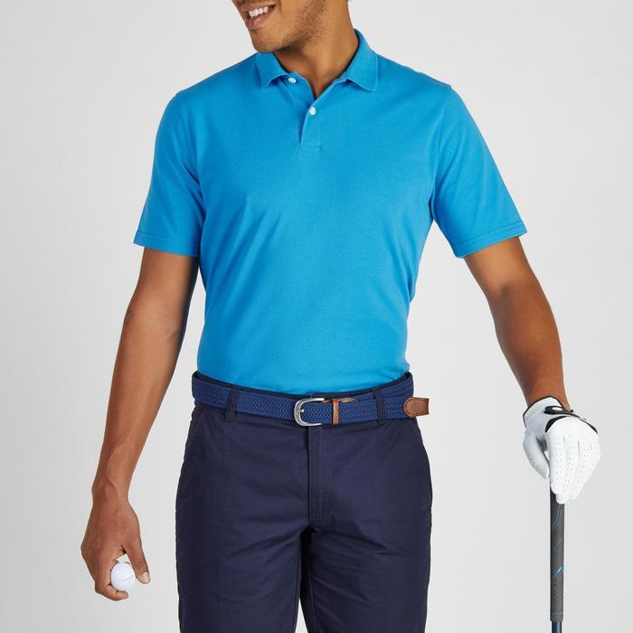 Golf Poloshirt 500 Kurzarm Herren mildwarm blau