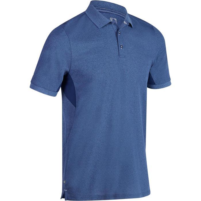 Polo de golf hombre manga corta 900 tiempo caluroso azul jaspeado