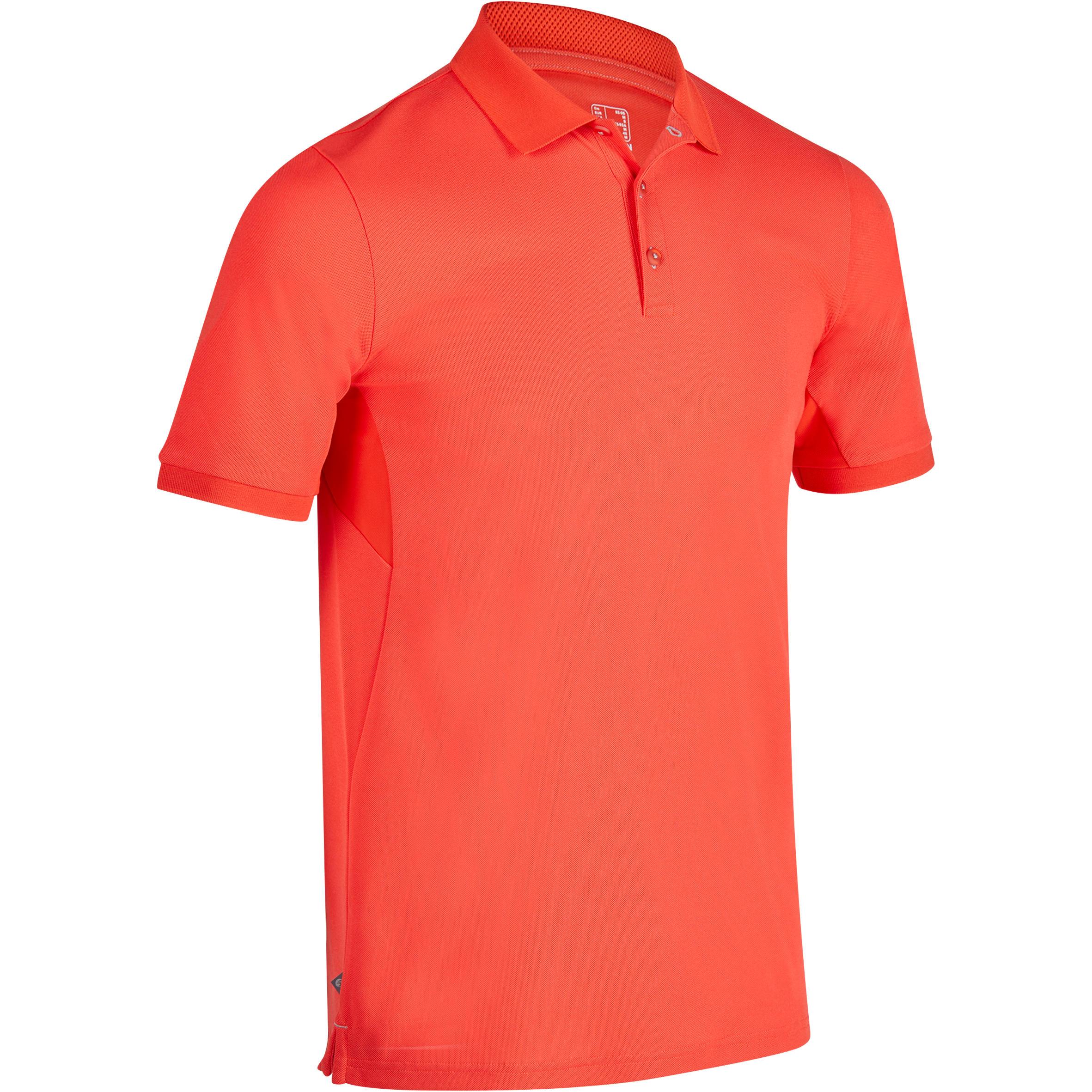 Polo de golf para hombre - manga corta 900 - clima caluroso - rojo