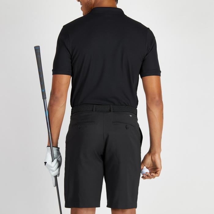 Golfpolo 900 met korte mouwen voor heren, warm weer, zwart