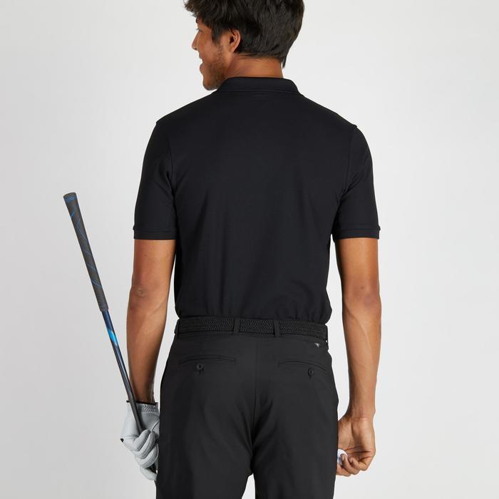 Golf Poloshirt 900 Kurzarm Herren schwarz