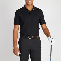 Golfpolo voor heren warm weer zwart