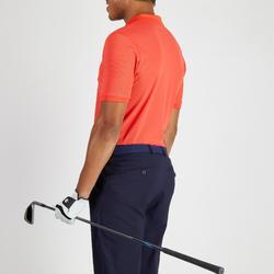Golf Poloshirt Herren atmungsaktiv korallenrot