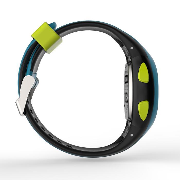 Horloge met stopwatch W200 S blauw en zwart