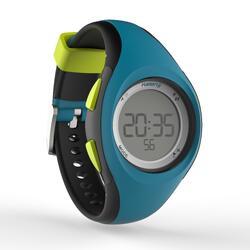 Montre chronomètre de course à pied W200 P bleu et noir