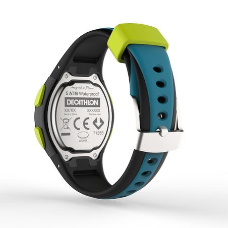 Montre chronomètre de course à pied W200 S bleu et noir