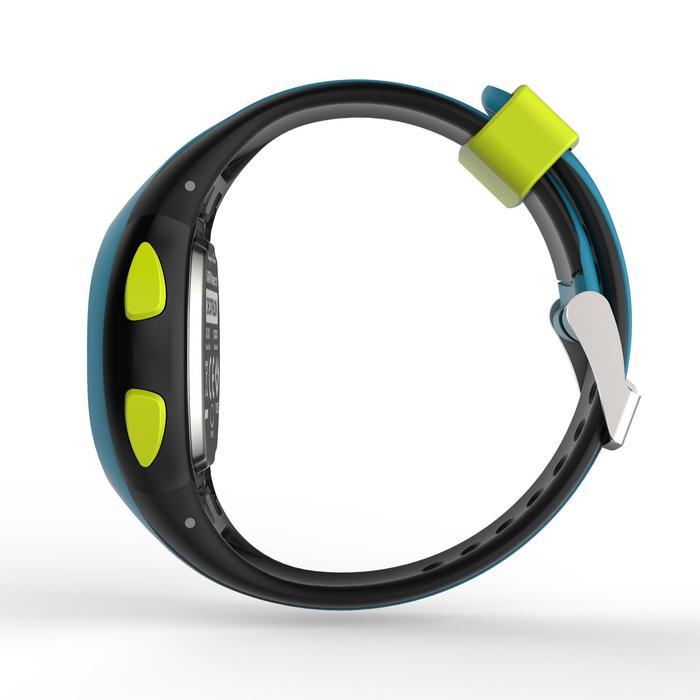 Relógio cronómetro de corrida W200 S preto e Azul