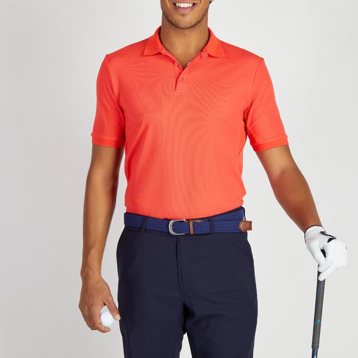 Golfpolo 900 met korte mouwen voor heren, warm weer, rood