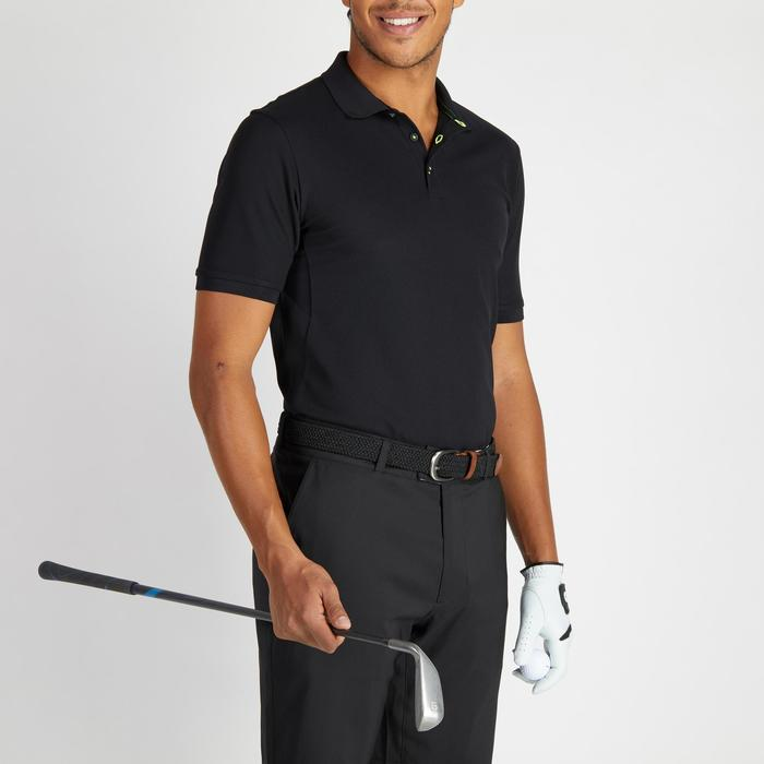 Polo de golf homme manches courtes 900 temps chaud noir